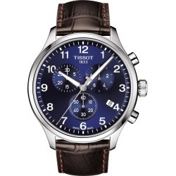 Men's Tissot Chrono Xl Collection Chronograph Leather Strap Watch, 45mm found on Bargain Bro India from Nordstrom for $375.00