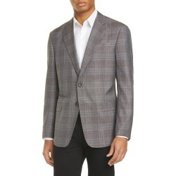 Men's Giorgio Armani Trim Fit Plaid Wool Blend Sport Coat, Size 38 US - Brown found on MODAPINS from LinkShare USA for USD $1437.00