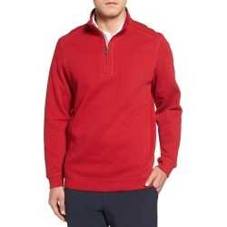 Men's Cutter & Buck Bayview Quarter Zip Pullover, Size Small - Red found on MODAPINS from Nordstrom for USD $88.00