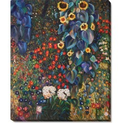 Overstock Art Farm Garden with Sunflowers with Gallery Wrap, 18