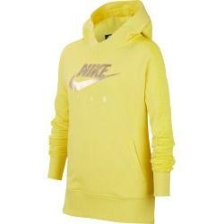 Girl's Nike Air Pullover Hoodie, Size S (8) - Yellow