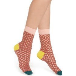 Women's Hysteria By Happy Socks Cesca Metallic Crew Socks, Size One Size - Grey found on MODAPINS from Nordstrom for USD $20.00