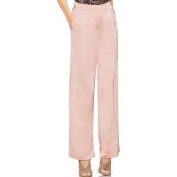 Women's Vince Camuto Satin Front Pleat Wide Leg Pants, Size 6 - Pink