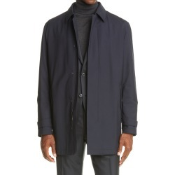 Men's Ermenegildo Zegna Trofeo Elements Trench Coat, Size 44 US - Blue found on MODAPINS from Nordstrom for USD $943.50