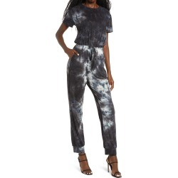 Women's Fraiche By J Tie Dye Jumpsuit, Size Large - Black found on Bargain Bro Philippines from Nordstrom for $98.00