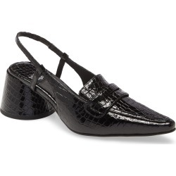 Women's Jeffrey Campbell Ferway Slingback Loafer Pump, Size 6 M - Black found on MODAPINS from Nordstrom for USD $149.95