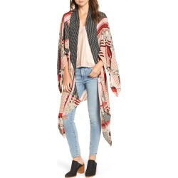 Women's Free People Morning Glory Kimono, Size One Size - Black