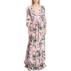Women's Patbo Tropical Print Gown, Size 8 - Pink