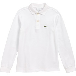 Toddler Boy's Lacoste Solid Long Sleeve Polo, Size 2Y - White found on Bargain Bro Philippines from Nordstrom for $55.00