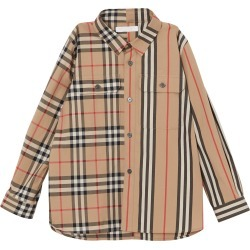 Toddler Boy's Burberry Amir Mixed Print Woven Shirt, Size 4Y - Beige found on Bargain Bro Philippines from Nordstrom for $160.00