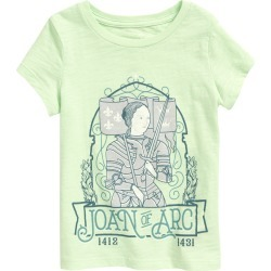 Toddler Girl's Peek Aren'T You Curious Kids' Joan Of Arc Graphic Tee, Size 3T - Green found on Bargain Bro Philippines from Nordstrom for $34.00