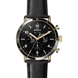 Men's Shinola The Canfield Sport Chrongraph Leather Strap Watch, 45mm found on Bargain Bro India from Nordstrom for $900.00