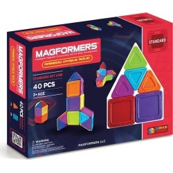 Toddler Magformers 'Standard - Solids' Opaque Magnetic 3D Construction Set found on Bargain Bro India from Nordstrom for $65.99