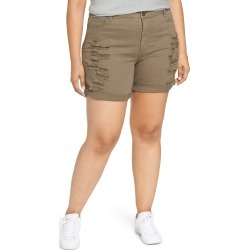 Plus Size Women's Tinsel Ripped Bermuda Shorts found on MODAPINS from Nordstrom for USD $40.00