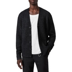 Men's Allsaints Cosmic Wool Blend Cardigan, Size Large - Black found on MODAPINS from Nordstrom for USD $245.00
