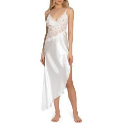 Women's Jonquil Satin & Lace Nightgown, Size X-Small - Ivory found on MODAPINS from Nordstrom for USD $118.00