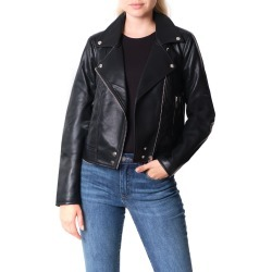 Women's Blanknyc Good Vibes Faux Leather Moto Jacket, Size X-Small - Black found on Bargain Bro from Nordstrom for USD $37.92