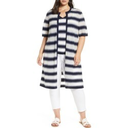 Plus Size Women's Lafayette 148 New York Sheer Stripe Duster found on MODAPINS from Nordstrom for USD $948.00