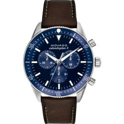 Men's Movado Heritage Chrono Leather Strap Watch, 42mm found on Bargain Bro India from Nordstrom for $596.25