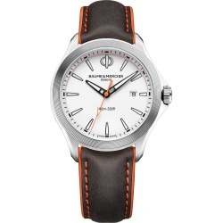 Men's Baume & Mercier Clifton Leather Strap Watch, 42mm found on Bargain Bro India from Nordstrom for $645.00