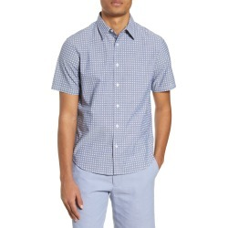 Men's Club Monaco Short Sleeve Button-Up Shirt, Size X-Large - Blue found on Bargain Bro Philippines from LinkShare USA for $40.28