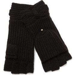 Women's Kate Spade New York Pointy Bow Pop Top Mittens, Size One Size - Black found on Bargain Bro Philippines from Nordstrom for $58.00