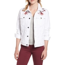 Women's Jen7 By 7 For All Mankind Embroidered Denim Jacket, Size Medium - White found on Bargain Bro India from Nordstrom for $199.00