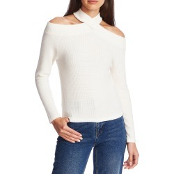 Women's 1.state Cozy Crisscross Neck Cold Shoulder Top, Size Small - White found on MODAPINS from Nordstrom for USD $59.00