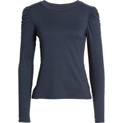 Women's Bobeau Brushed Puff Sleeve Top, Size Small - Blue found on Bargain Bro Philippines from Nordstrom for $52.00