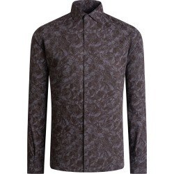 Men's Bugatchi Floral Button-Up Shirt, Size X-Large - Grey found on Bargain Bro India from Nordstrom for $149.00