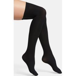 Women's Commando Up All Night Thigh High Socks, Size Small/Medium - Black