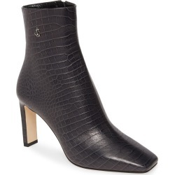 Women's Jimmy Choo Minori Croc-Embossed Square Toe Bootie, Size 9.5US / 39.5EU - Grey found on Bargain Bro Philippines from Nordstrom for $716.98