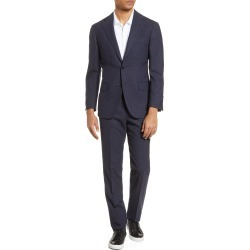 Men's Ring Jacket Slim Fit Plaid Wool Suit, Size 44 US / 54 EU R - Blue found on MODAPINS from Nordstrom for USD $897.50