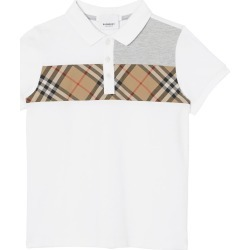 Toddler Boy's Burberry Jeff Polo, Size 3Y - White found on Bargain Bro India from Nordstrom for $150.00