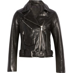 Women's Allsaints Griffen Leather Biker Jacket, Size 2 US - Black found on Bargain Bro from Nordstrom for USD $371.64