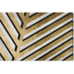 Oliver Gal Geometric Palm Canvas Wall Art