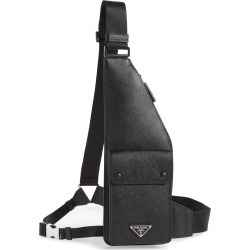 Men's Prada Travel Saffiano Leather Crossbody Bag - Black found on MODAPINS from Nordstrom for USD $1420.00