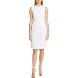 Women's Carolina Herrera Guipure Lace Sheath Dress, Size 12 - White found on MODAPINS from LinkShare USA for USD $876.00