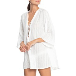 Women's Robin Piccone Michelle Tunic Cover-Up, Size Small - White found on Bargain Bro Philippines from LinkShare USA for $88.00