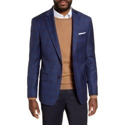 Men's Hart Schaffner Marx Classic Fit Plaid Stretch Wool Sport Coat