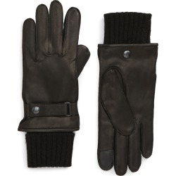 Men's Allsaints Touchscreen Compatible Deerskin Leather Gloves With Removable Wool Lining, Size Large - Black found on MODAPINS from Nordstrom for USD $159.00