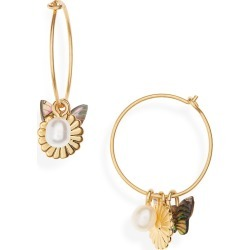 Women's Madewell Collection Mix & Match Charm Hoop Earrings found on Bargain Bro Philippines from Nordstrom for $19.99
