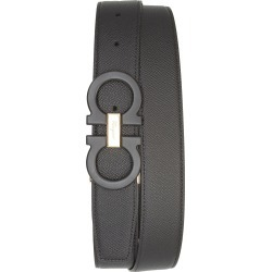 Men's Salvatore Ferragamo Reversible Leather Belt, Size 34 - Nero / Nero found on Bargain Bro India from LinkShare USA for $430.00