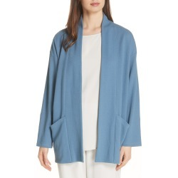 Women's Eileen Fisher Organic Cotton Blend Kimono Jacket, Size X-Small - Blue