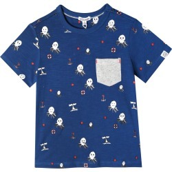 Infant Boy's Art & Eden Lucas Octopus Print T-Shirt, Size 6M - Blue found on Bargain Bro India from LinkShare USA for $26.00