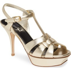 Women's Saint Laurent Tribute Metallic Platform Sandal found on Bargain Bro Philippines from Nordstrom for $995.00