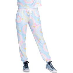 Women's Pj Salvage Smiley Tie Dye Lounge Pants, Size Small - Blue found on Bargain Bro from Nordstrom for USD $50.16