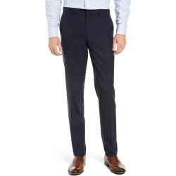 Men's Nordstrom Men's Shop Tech-Smart Slim Fit Stretch Wool Dress Pants, Size 40 x Unhemmed - Blue found on MODAPINS from Nordstrom for USD $129.00