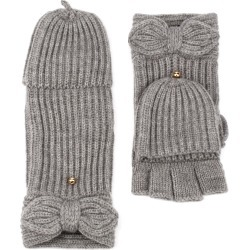 Women's Kate Spade New York Pointy Bow Pop Top Mittens, Size One Size - Grey found on Bargain Bro Philippines from Nordstrom for $58.00