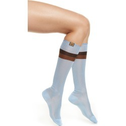 Women's Fendi Ribbed Knee High Socks, Size Small/Medium - Blue found on MODAPINS from Nordstrom for USD $230.00